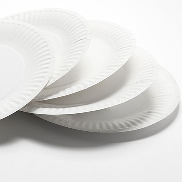 Paper plates available in 3 sizes 6, 7 and 9 inches. Made from a high strength white board our paper plates are strongly embossed to give them more rigidity.